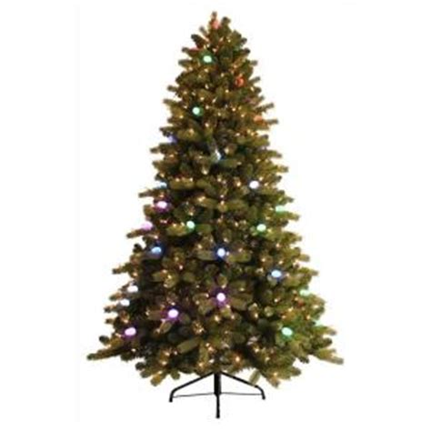 ge 7 5 ft pre lit itwinkle just cut spruce artificial tree with speaker
