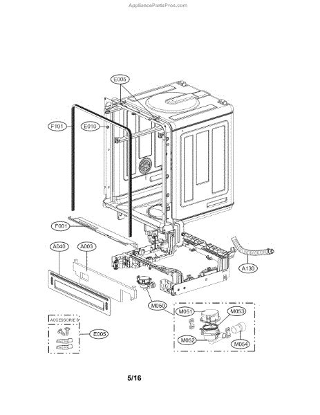 lg dishwasher parts diagram lg abq73503004 assembly appliancepartspros