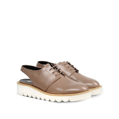 slingback sneakers lyst stella mccartney taupe odette slingback shoes in brown