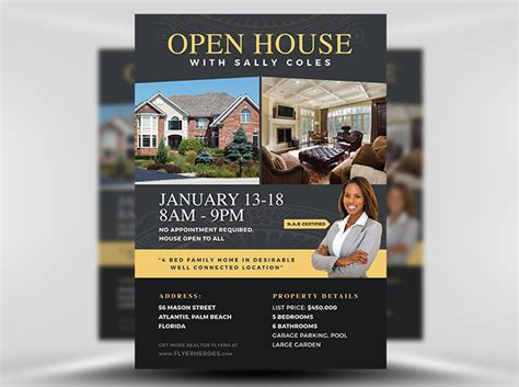 free open house flyer templates open house flyer template 2 flyerheroes