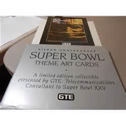 Bowl Xxv Silver Anniversary Card Set