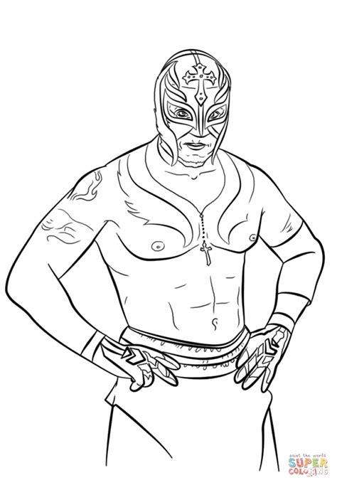 Wwe Rey Mysterio Coloring Pages Snap Cara Org Cara And Mysterio Coloring Pages