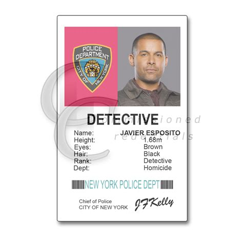 detective identification card template for nypd id card images