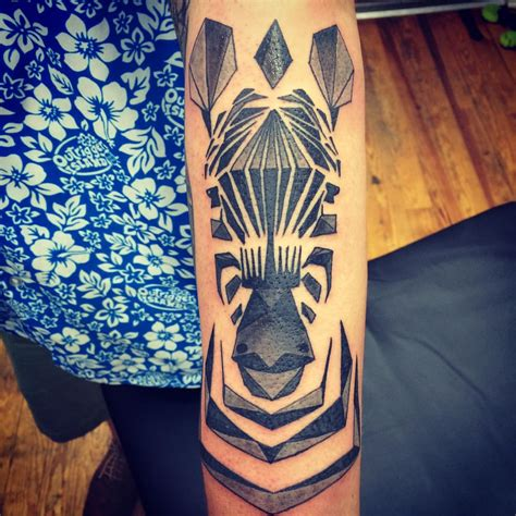 zebras tattoo geometric zebra by chriskelleytattoos