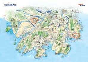 busan tourist map busan south korea mappery