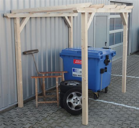 vordach holz shelter canopy for garden tools grill firewood or bicycles