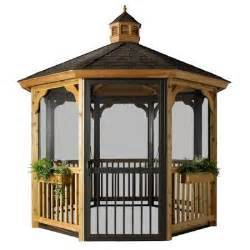 home depot gazebo homeplace structures 12 ft cedar octagon gazebo with