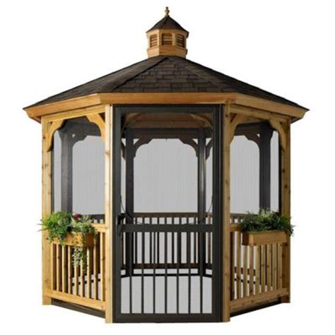 homeplace structures 12 ft cedar octagon gazebo with