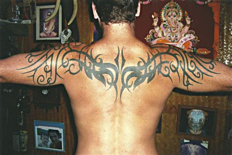 tribal thong tattoo tribal back big magic koh phangan thailand