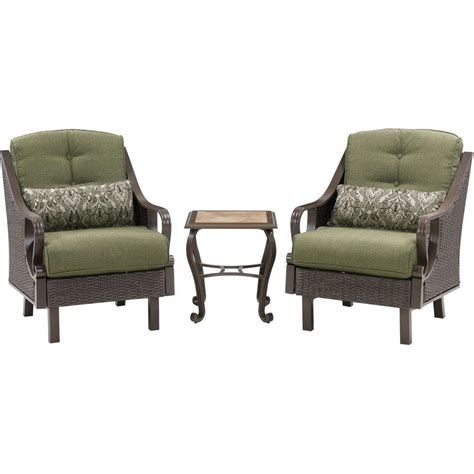 Patio Furniture Ventura County Hanover Ventura 3 All Weather Wicker Patio Chat Set