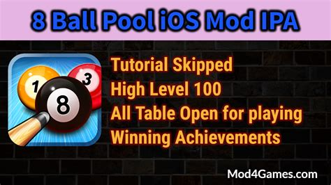 mod game ios 7 8 ball pool ios mod ipa tutorial skipped high level