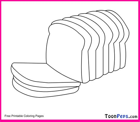 free loaf of bread coloring pages