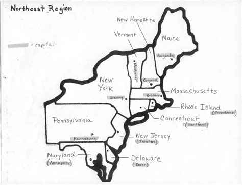 east america map quiz image gallery northeast states