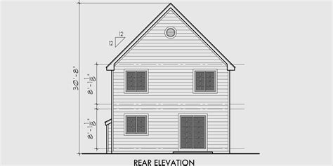 Victorian Narrow Lot House Plan Front Bay Window Bay House Plans
