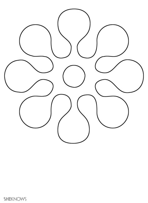 flower template free printable early play templates flower templates free