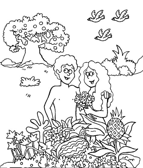 coloring page for adam and eve free bible coloring pages of adam and eve coloring home