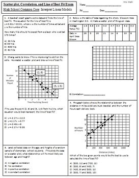 Scatter Plot And Line Of Best Fit Worksheet by Scatter Plot Correlation And Line Of Best Fit Mrs