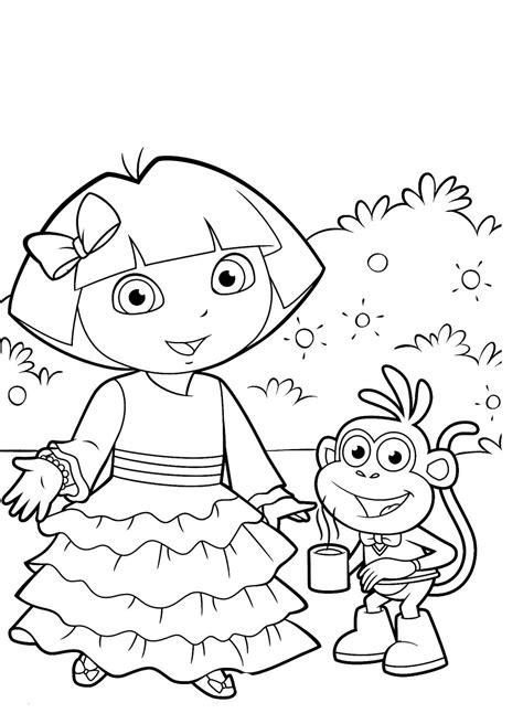 Dibujos Para Colorear De Dora La Exploradora | dibujos para colorear de dora la exploradora ideas amp