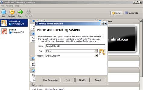 membuat jaringan lan dengan virtualbox cara mudah melakukan instalasi router mikrotik dengan