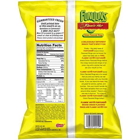 hot funyuns bulk funyuns nutrition facts nutrition ftempo