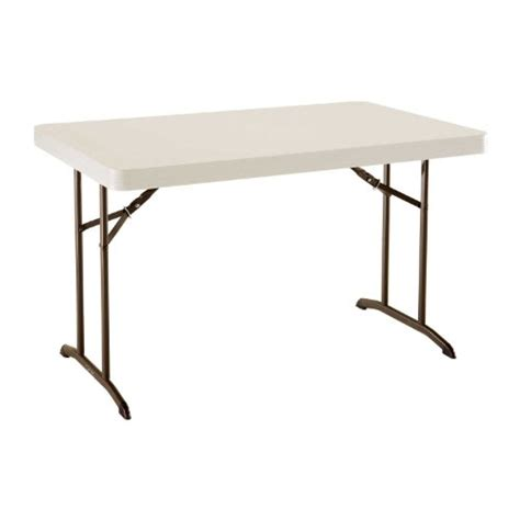 48 Inch Folding Table Lifetime 22645 4 Foot Commercial Folding Table 48 Inch By 30 Inch Almond Tabletop With Bronze