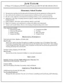 Best Resume Format Teachers by Free Resume Templates For Teachers To Download Samples