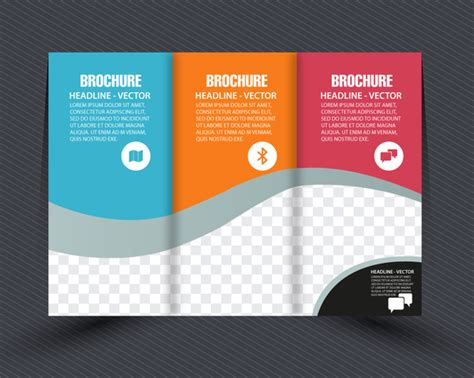 how to layout a brochure in illustrator business brochure design with checkered trifold style free