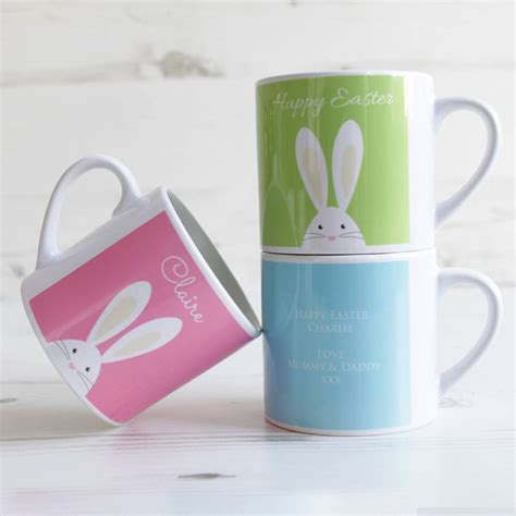 personalised child s easter bunny mini mug by we love to