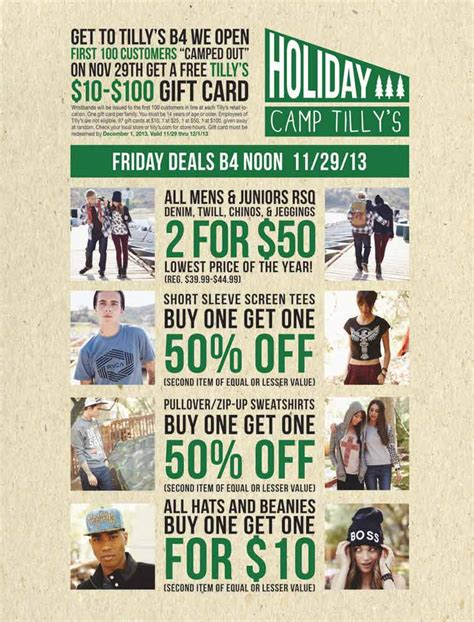 Tilly S Gift Card - tilly s black friday 2013 ad find the best tilly s black friday deals and sales