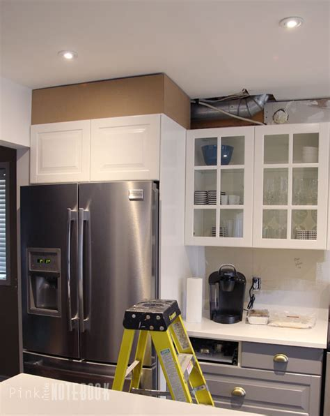Kitchen Bulkhead by Diy How To Disguise A Kitchen Soffit Pink