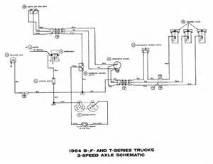 3 speed axle schematic diagrams of 1964 ford b f and t series trucks circuit wiring diagrams