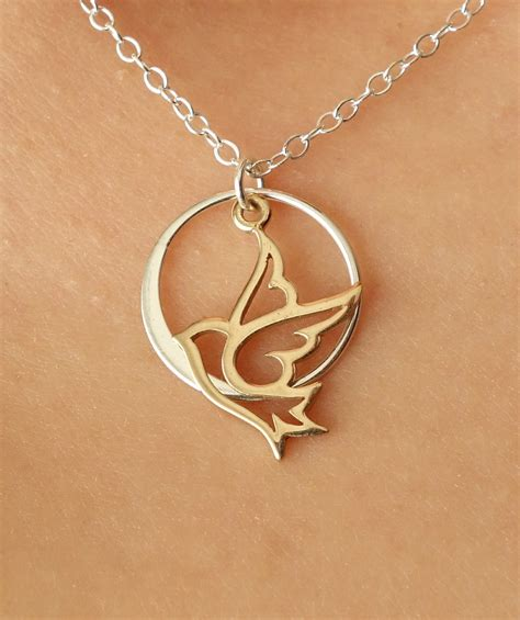 forever peace i dove necklace pendant necklace by popsicledrum
