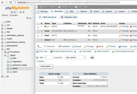 laravel tutorial migration mengenal database migration di laravel mahir koding