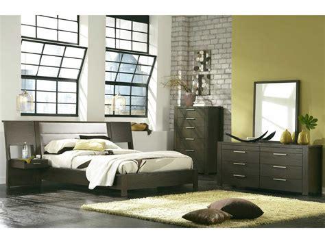 casana hudson platform bed with panel nightstands bedroom