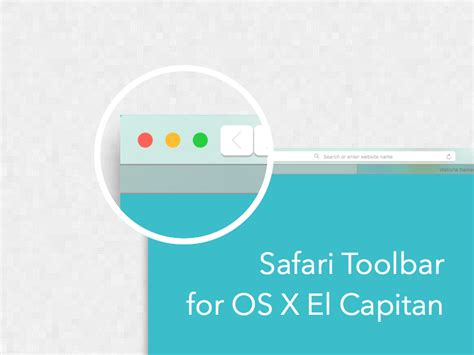 home design osx free os x el capitan safari toolbar sketch freebie download