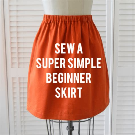 pattern for a simple skirt beginner skirt sewing tutorial shrimp salad circus