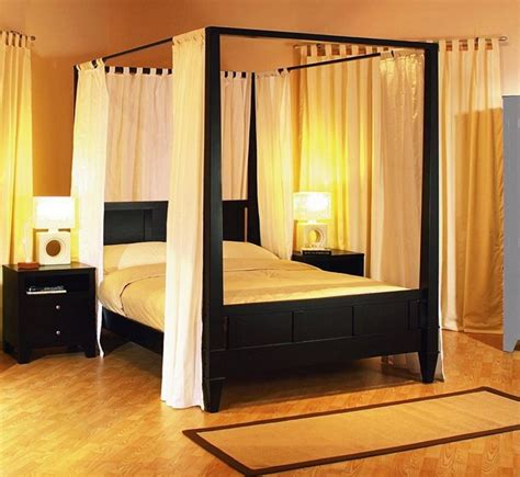 how to make a canopy bed with curtain rods diy canopy bed from pvc pipes midcityeast