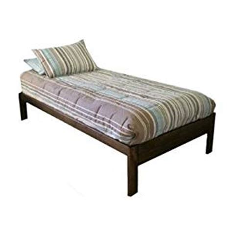 how long is an extra long twin bed amazon com santa cruz twin xl extra long bed rustic walnut kitchen dining