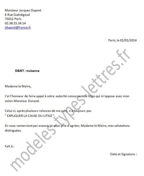 Exemple De Lettre Administrative Au Maire Modele Lettre Au Maire