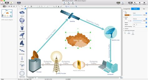 network diagram osx telecommunication network diagrams solution conceptdraw
