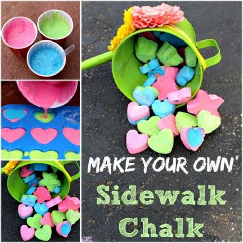 diy sidewalk chalk paint recipe wonderful diy handmade sidewalk chalk
