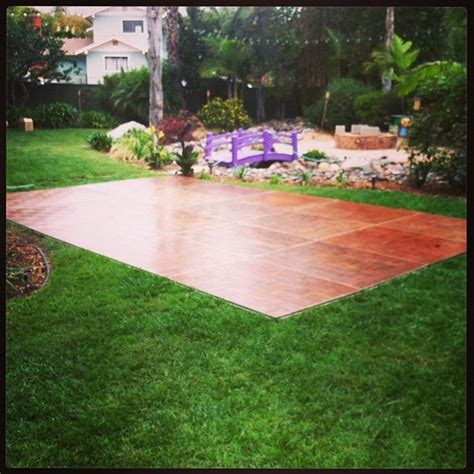 backyard dance floor backyard wedding with with a 15 x 20 dance floor oak