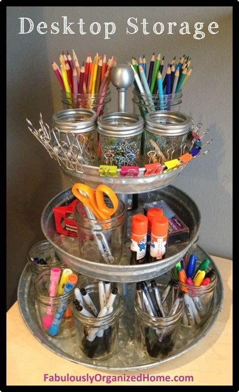creative   diy desk organizers