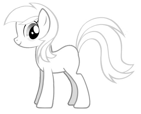 mlp template free coloring pages of my pony