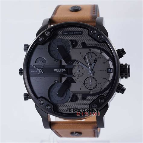 Jam Guess Collection Kulit Coklat termurah diesel watches mr dz 7406 kulit coklat