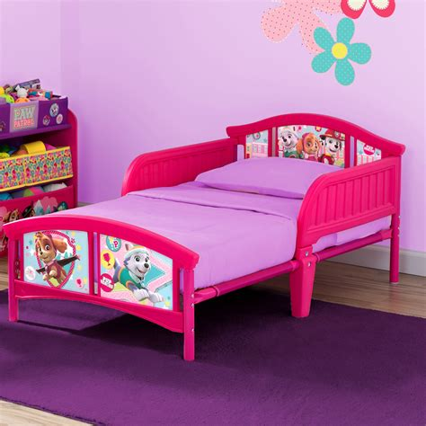 plastic toddler bed delta children nick jr paw patrol skye and everest