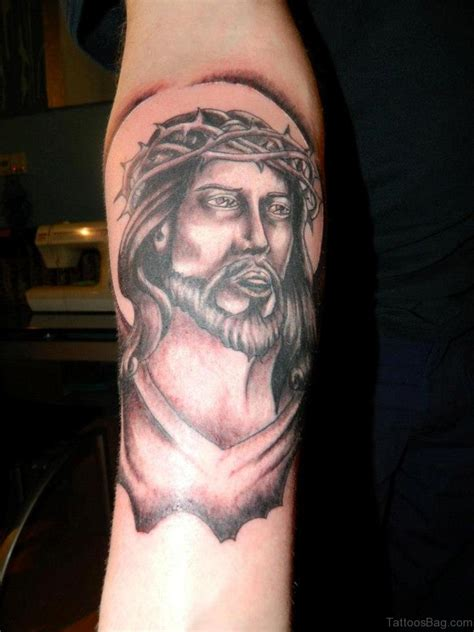 jesus tattoo on forearm 72 great looking jesus tattoos for arm