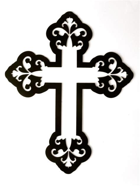 cross heavy decorative metal wall art  rillabee  etsy