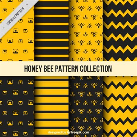 honey pattern vector honey pattern with bees vector free download