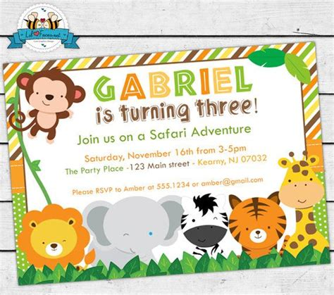 free printable animal invitations 17 best images about safari jungle party ideas on